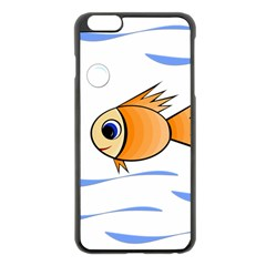 Cute Fish Apple iPhone 6 Plus/6S Plus Black Enamel Case