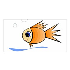 Cute Fish Satin Shawl