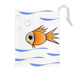 Cute Fish Drawstring Pouches (Extra Large)