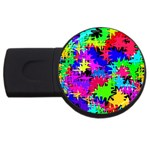 Colorful shapes                                                                             			USB Flash Drive Round (2 GB) Front