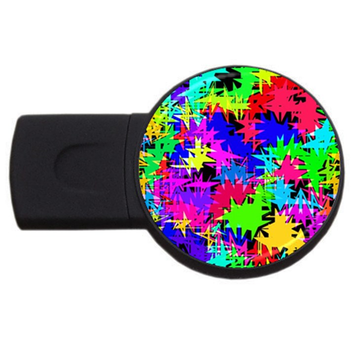 Colorful shapes                                                                             			USB Flash Drive Round (2 GB)