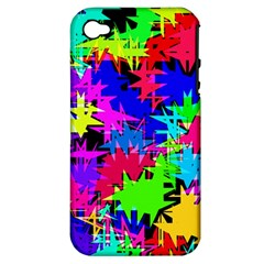 Colorful shapes                                                                             			Apple iPhone 4/4S Hardshell Case (PC+Silicone)