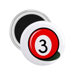 Billiard ball number 3 2.25  Magnets