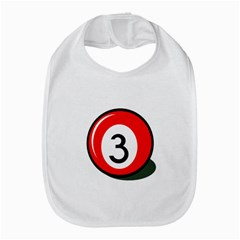 Billiard ball number 3 Bib