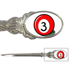 Billiard ball number 3 Letter Openers