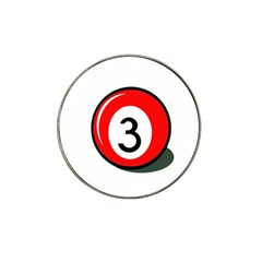 Billiard ball number 3 Hat Clip Ball Marker (4 pack)