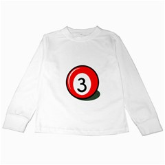 Billiard ball number 3 Kids Long Sleeve T-Shirts