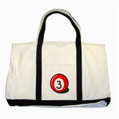 Billiard ball number 3 Two Tone Tote Bag
