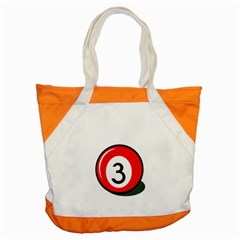 Billiard ball number 3 Accent Tote Bag