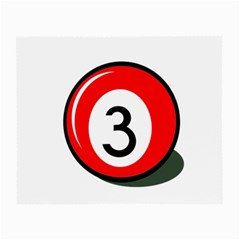 Billiard ball number 3 Small Glasses Cloth (2-Side)