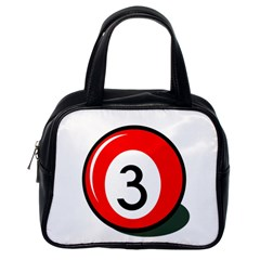 Billiard ball number 3 Classic Handbags (One Side)