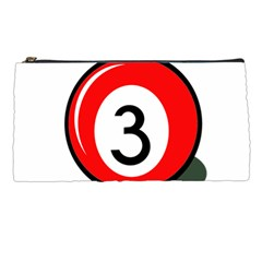 Billiard ball number 3 Pencil Cases