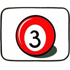 Billiard ball number 3 Double Sided Fleece Blanket (Mini)