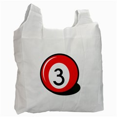 Billiard ball number 3 Recycle Bag (Two Side)