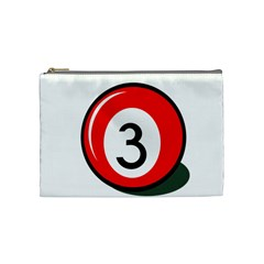 Billiard ball number 3 Cosmetic Bag (Medium)