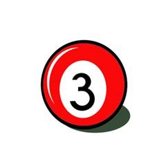 Billiard ball number 3 5.5  x 8.5  Notebooks