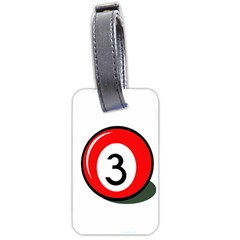 Billiard ball number 3 Luggage Tags (One Side)