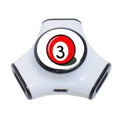 Billiard ball number 3 3-Port USB Hub