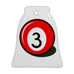 Billiard ball number 3 Ornament (Bell)
