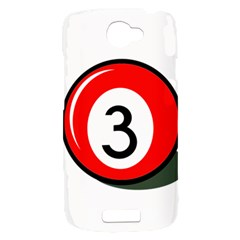 Billiard ball number 3 HTC One S Hardshell Case