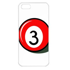 Billiard ball number 3 Apple iPhone 5 Seamless Case (White)