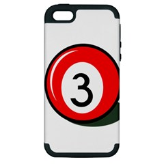 Billiard ball number 3 Apple iPhone 5 Hardshell Case (PC+Silicone)