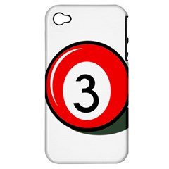 Billiard ball number 3 Apple iPhone 4/4S Hardshell Case (PC+Silicone)