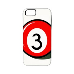 Billiard ball number 3 Apple iPhone 5 Classic Hardshell Case (PC+Silicone)
