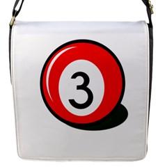 Billiard ball number 3 Flap Messenger Bag (S)
