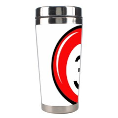 Billiard ball number 3 Stainless Steel Travel Tumblers