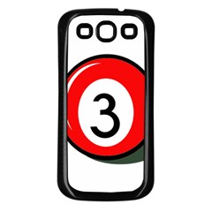 Billiard ball number 3 Samsung Galaxy S3 Back Case (Black)