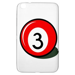 Billiard ball number 3 Samsung Galaxy Tab 3 (8 ) T3100 Hardshell Case