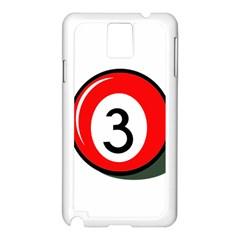 Billiard ball number 3 Samsung Galaxy Note 3 N9005 Case (White)