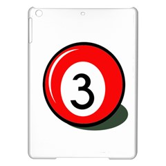 Billiard ball number 3 iPad Air Hardshell Cases