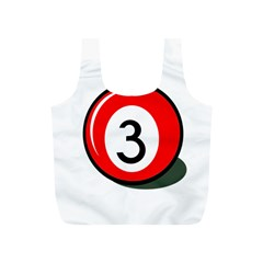 Billiard ball number 3 Full Print Recycle Bags (S)
