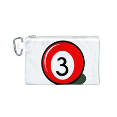 Billiard ball number 3 Canvas Cosmetic Bag (S)