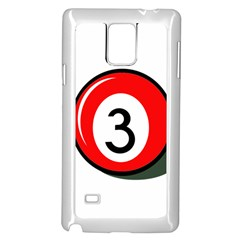 Billiard ball number 3 Samsung Galaxy Note 4 Case (White)