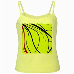 Yellow decorative design Yellow Spaghetti Tank