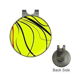 Yellow decorative design Hat Clips with Golf Markers