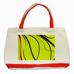 Yellow decorative design Classic Tote Bag (Red)