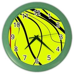 Yellow decorative design Color Wall Clocks