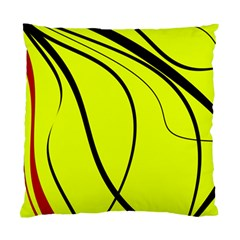 Yellow decorative design Standard Cushion Case (Two Sides)