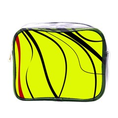 Yellow decorative design Mini Toiletries Bags
