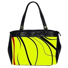 Yellow Decorative Design Office Handbags (2 Sides)