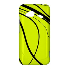 Yellow decorative design HTC Droid Incredible 4G LTE Hardshell Case