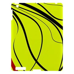 Yellow decorative design Apple iPad 3/4 Hardshell Case