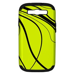 Yellow decorative design Samsung Galaxy S III Hardshell Case (PC+Silicone)