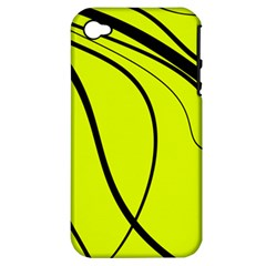 Yellow decorative design Apple iPhone 4/4S Hardshell Case (PC+Silicone)