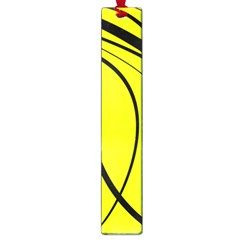 Yellow decorative design Large Book Marks