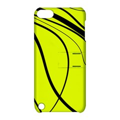 Yellow decorative design Apple iPod Touch 5 Hardshell Case with Stand